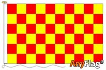 RED AND YELLOW CHECK ANYFLAG RANGE - VARIOUS SIZES